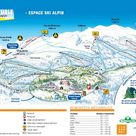 Plan des pistes Font-d'Urle-Chaud-Clapier-Lente-Col-de-Carri